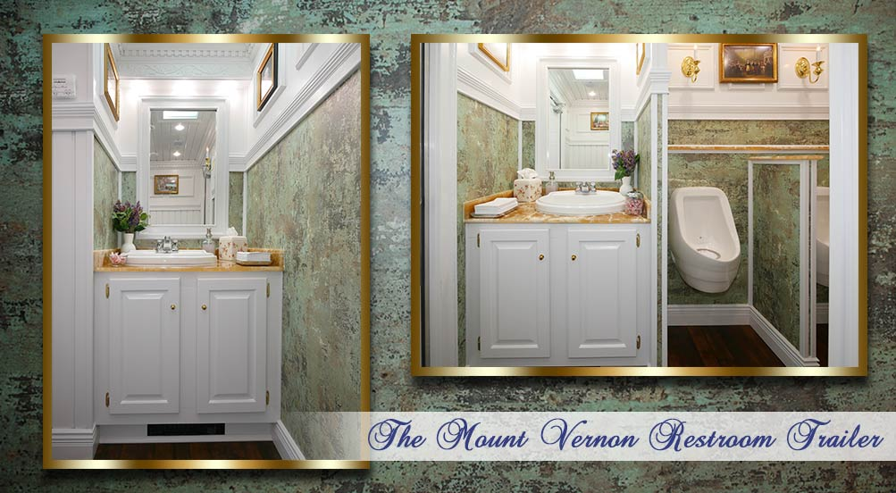 The Mount Vernon Luxury Restroom Trailer Interior by Callahead