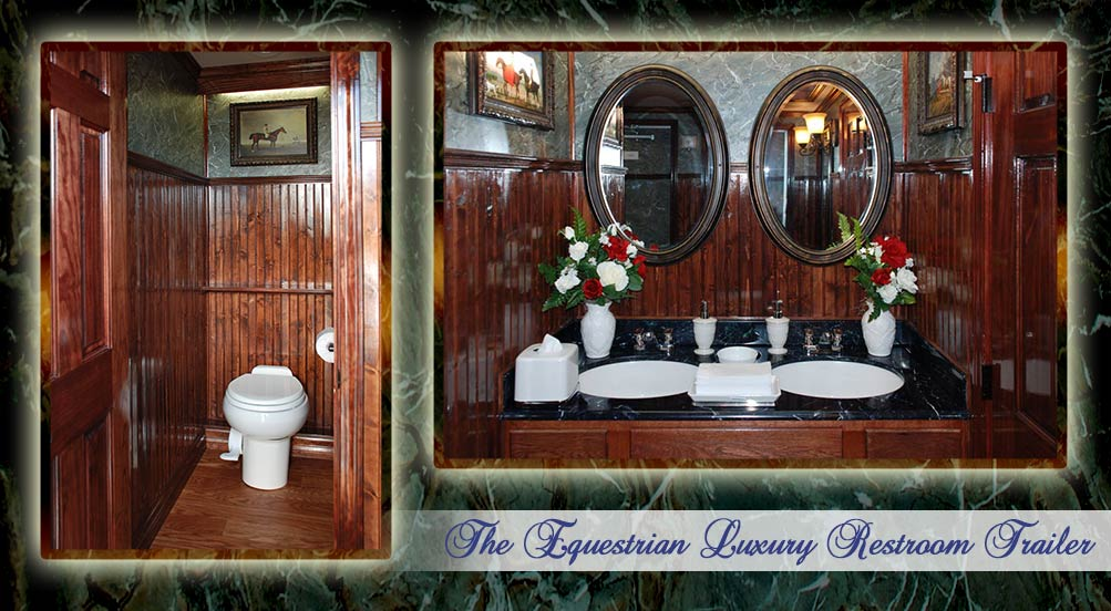 The Equestrian Luxury Restroom Trailer Interior by Callahead