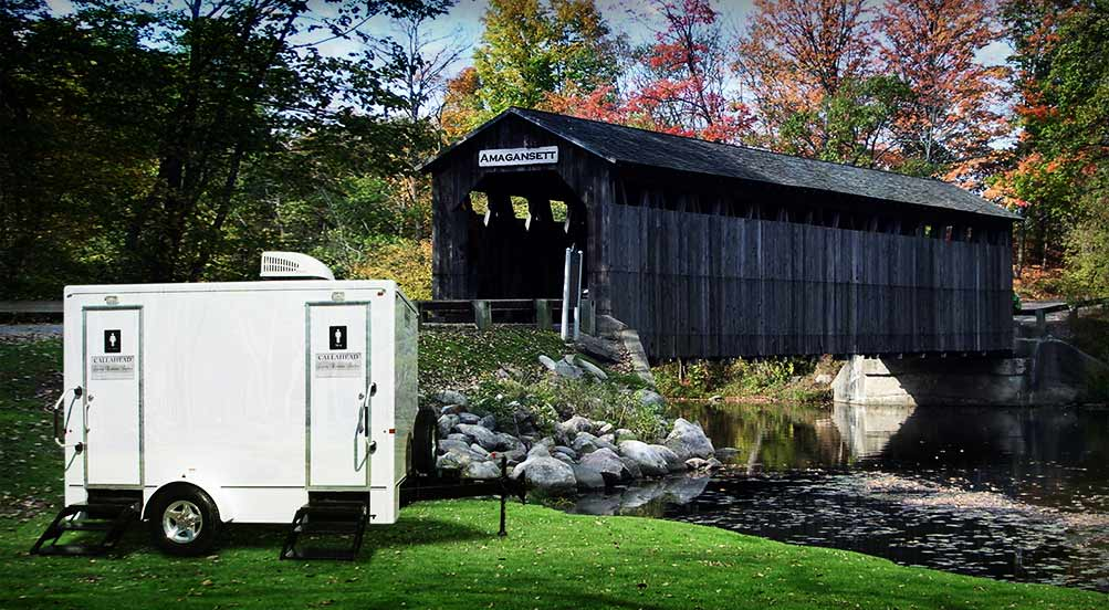 The Amagansett Portable Restroom Trailer