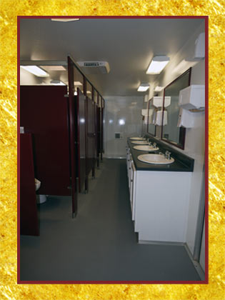 The Contractor's Restroom Trailer Interior