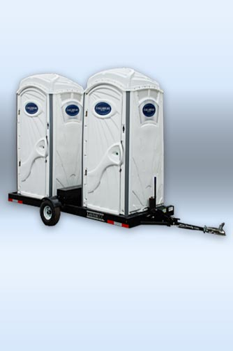 A WHITE TOILET on DoubleHead Trailer