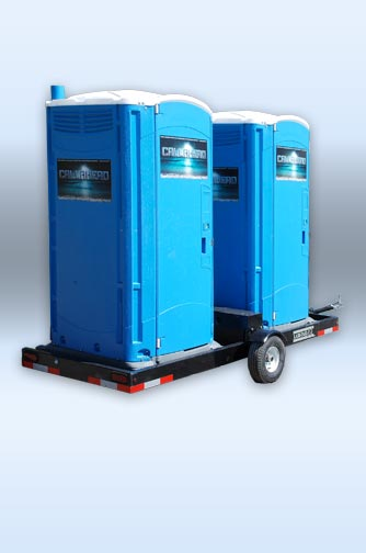 The BLUE WATER TOILET on the DoubleHead Trailer