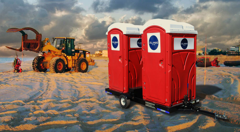 bathroom trailers the double head restroom trailer by callahead