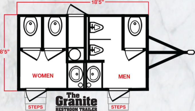 The Granite Restroom Trailer Floor Plan