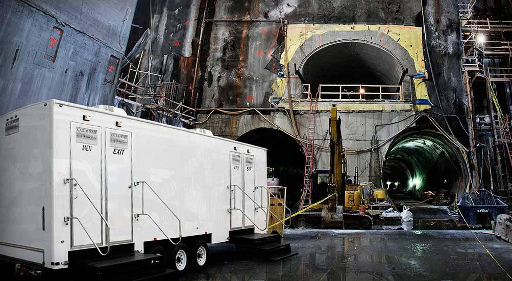 Construction Bathroom Trailer The Job Site By