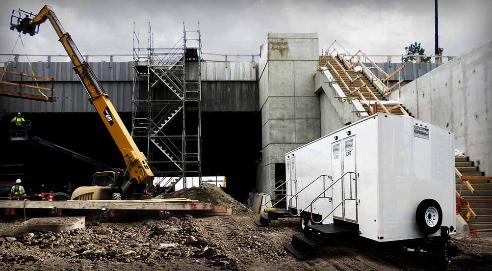 Construction Restroom Trailer in NY
