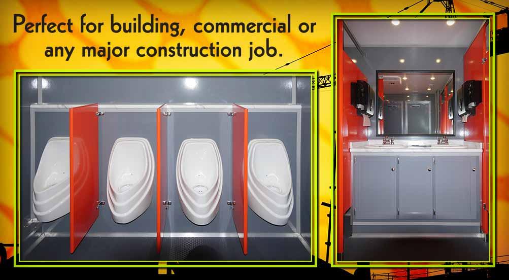 Job Site Restroom Trailer in NYC