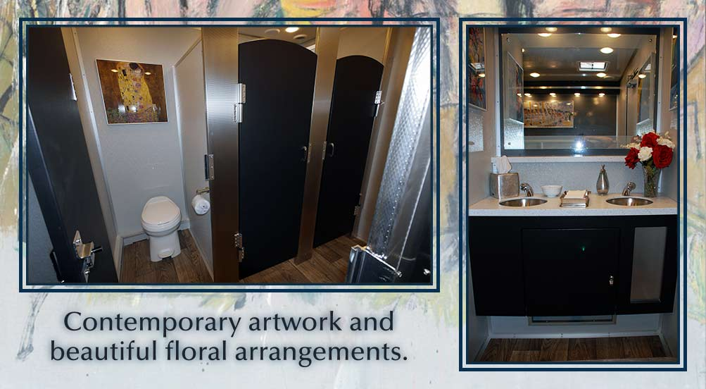 Restroom Trailers The Modern Luxury Restroom Trailer By CALLAHEAD Impressive Mobile Bathroom Rental Decor