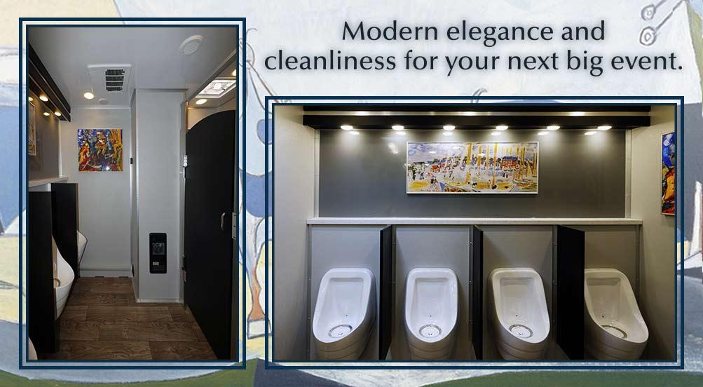 Modern Luxury Restroom Trailer in NY