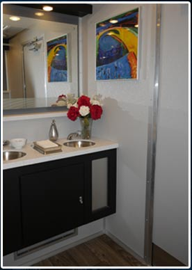 The Modern Restroom Trailer Interior