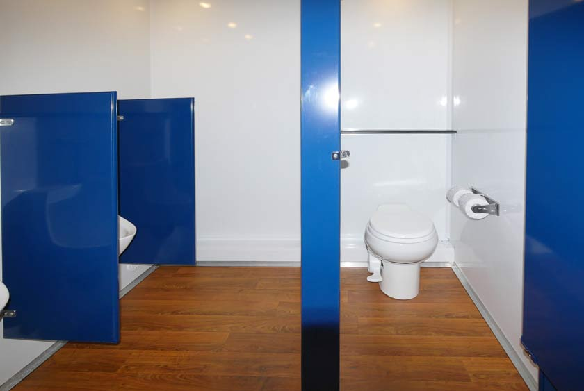 menu0027s side includes one bathroom stall and three urinals