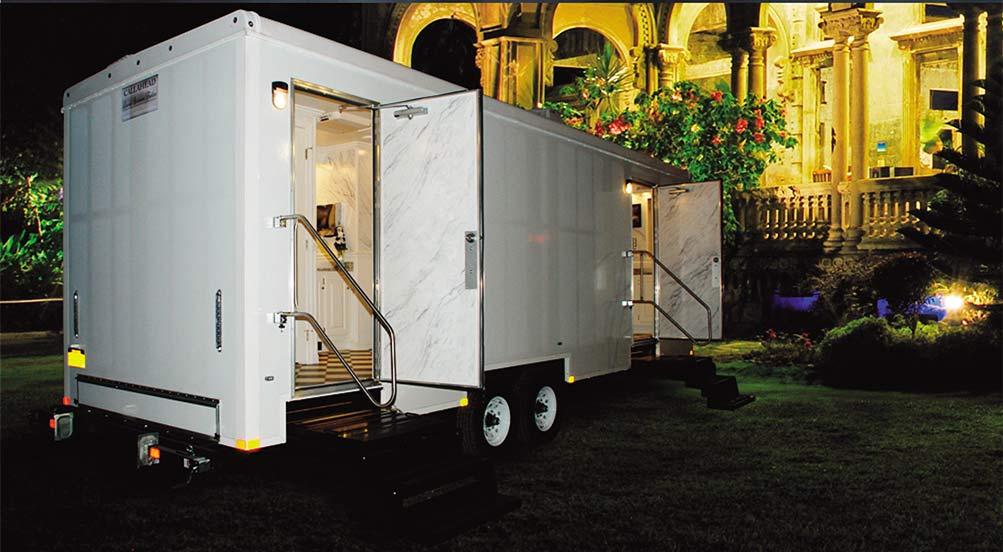 The Plaza Bathroom trailer