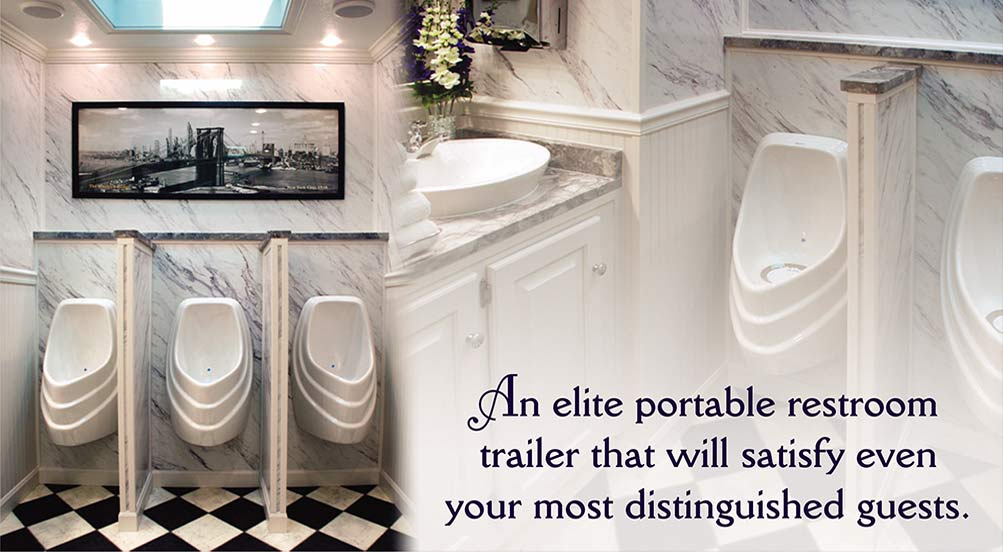 Restroom Trailer for Weddings