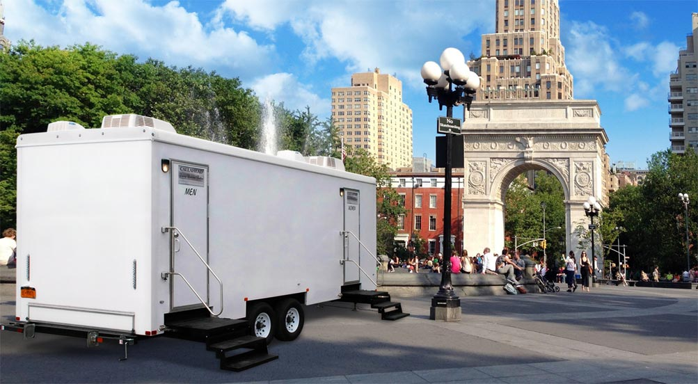 Luxury Restroom Trailer in NY