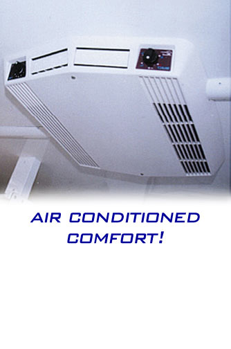 The Restroom Station Bathroom Trailer - Overhead Air Conditioner