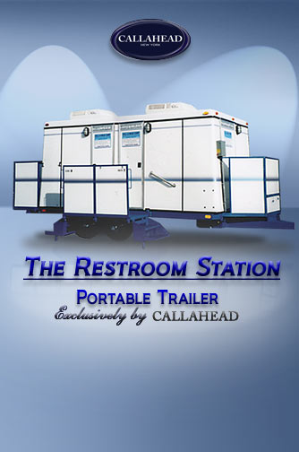 The Restroom Station Bathroom Trailer - Portable Restroom Trailer