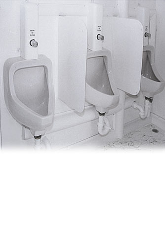 The Restroom Station Bathroom Trailer - Three Urinals for Men