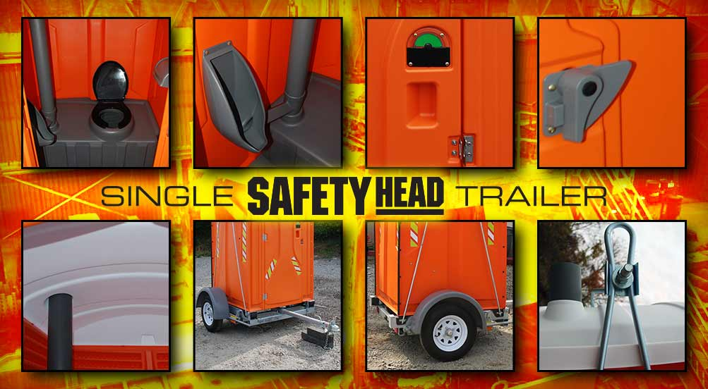 The Safety Head Portable Toilet for Construction