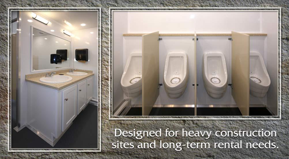 Construction Portable Restroom Trailer in NYC