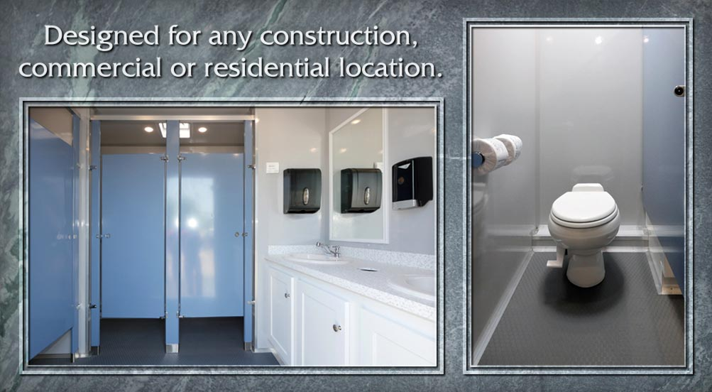 Portable Restroom Trailer for Construction Job Sites