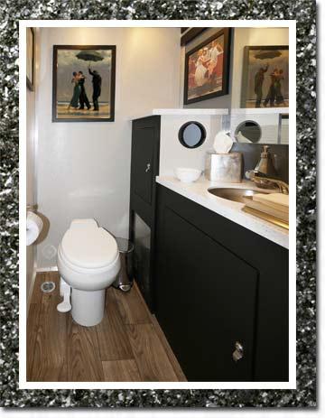 The SOHO Restroom Trailer Interior