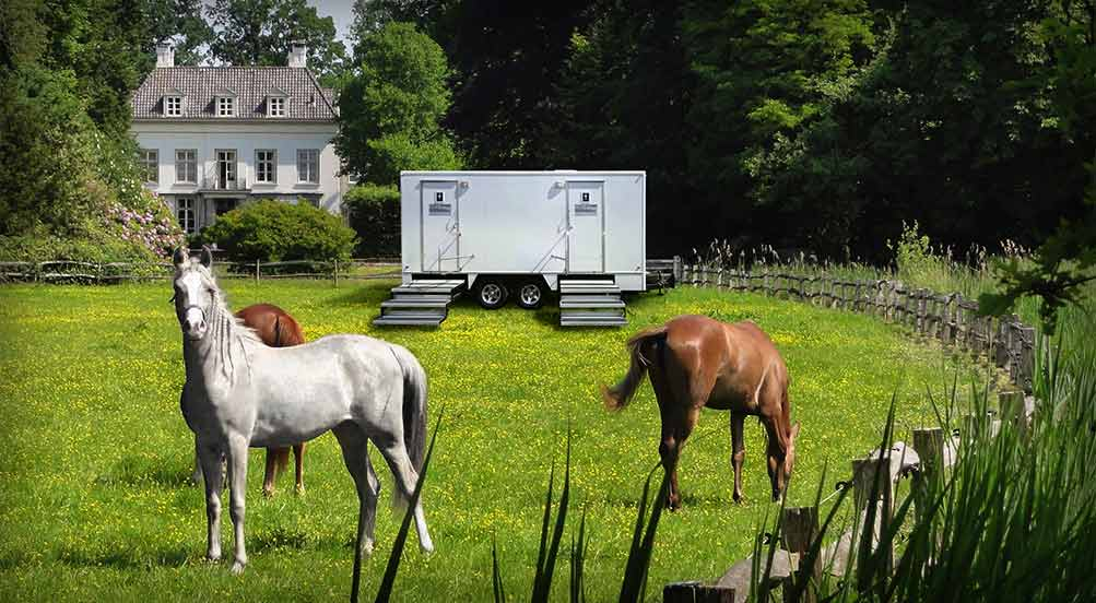 The White Horse Luxury Restroom Trailer