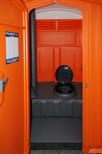 The Safety Head Portable Restroom Orange By Callahead