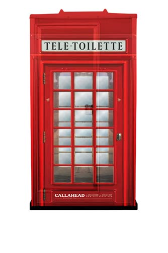 Front View of Tele-Toilette Portable Bathroom