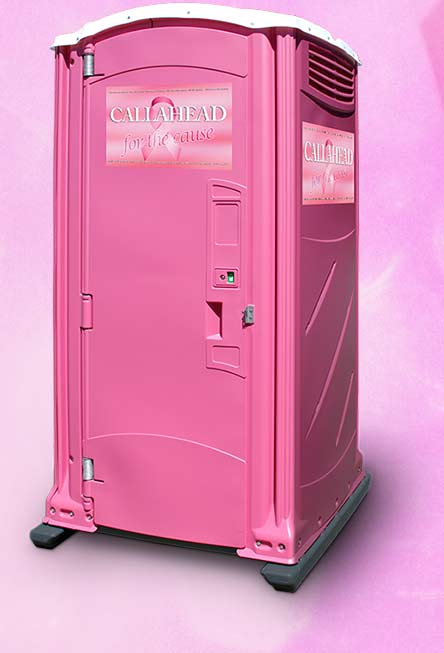 The Pink Ribbon Portable Restroom
