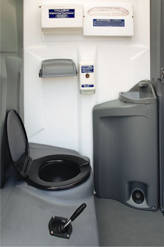 The Wash And Flush Steel Sling Head Portable Toilet