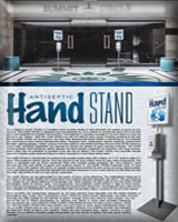 Portable Antiseptic Gel Stand - The Hand Stand